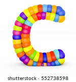 3d render letter c made with... | Shutterstock . vector #552738598