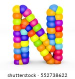 3d render letter n made with... | Shutterstock . vector #552738622