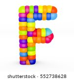 3d render letter f made with... | Shutterstock . vector #552738628