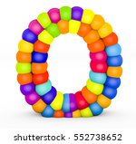 3d render letter o made with...   Shutterstock . vector #552738652