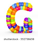 3d render letter g made with... | Shutterstock . vector #552738658