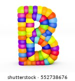 3d render letter b made with...   Shutterstock . vector #552738676