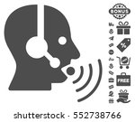operator talking sound waves... | Shutterstock .eps vector #552738766