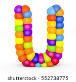 3d render letter u made with... | Shutterstock . vector #552738775