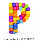 3d render letter p made with...   Shutterstock . vector #552738796