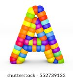 3d render letter a made with...   Shutterstock . vector #552739132