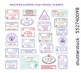 bitmap western europe colour... | Shutterstock . vector #552740098