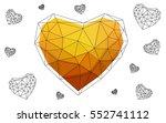 light orange heart isolated on... | Shutterstock .eps vector #552741112