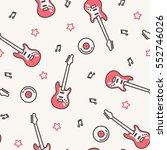 vector music pattern with... | Shutterstock .eps vector #552746026