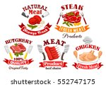 meat shop and butchery symbol... | Shutterstock .eps vector #552747175