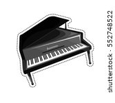 the piano is an acoustic... | Shutterstock .eps vector #552748522