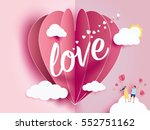 love invitation card valentine... | Shutterstock .eps vector #552751162