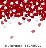 vector background with hearts ... | Shutterstock .eps vector #552755722