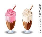 milk shake on white background | Shutterstock .eps vector #552756436