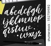 handwritten script font. hand... | Shutterstock .eps vector #552759592