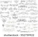 calligraphic design elements... | Shutterstock .eps vector #552759922