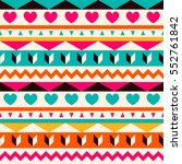 vector seamless ethnic pattern. ... | Shutterstock .eps vector #552761842