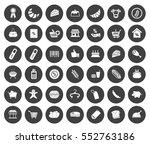 supermarket icons | Shutterstock .eps vector #552763186
