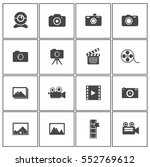 camera icons | Shutterstock .eps vector #552769612