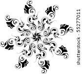 vector floral design elements | Shutterstock .eps vector #55277011