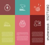 vector hand made banners and... | Shutterstock .eps vector #552771082