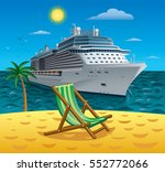 concept illustration of cruise... | Shutterstock .eps vector #552772066