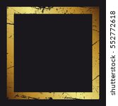 gold frame. beautiful simple... | Shutterstock .eps vector #552772618