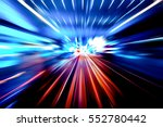moving traffic light trails at... | Shutterstock . vector #552780442