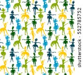 vector seamless pattern with... | Shutterstock .eps vector #552785752