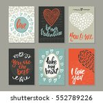 collection of romantic and love ... | Shutterstock .eps vector #552789226