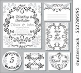 vector wedding collection.... | Shutterstock .eps vector #552789292