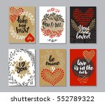 collection of romantic and love ... | Shutterstock .eps vector #552789322