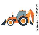 cartoon backhoe loader.... | Shutterstock .eps vector #552789502