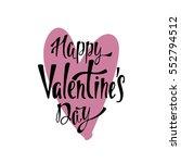 happy valentine's day.... | Shutterstock .eps vector #552794512