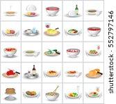 3d portion of food  set  ... | Shutterstock .eps vector #552797146