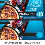restaurant gift voucher flyer... | Shutterstock . vector #552799786