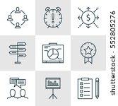 set of 9 project management... | Shutterstock .eps vector #552805276