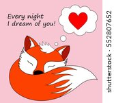 every night i dream of you.... | Shutterstock .eps vector #552807652