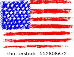 american flag usa  pencil... | Shutterstock .eps vector #552808672