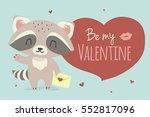 vector valentine's day greeting ... | Shutterstock .eps vector #552817096