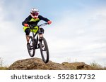 professional cyclist jumping... | Shutterstock . vector #552817732