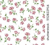 Floral White Pattern. Flower...