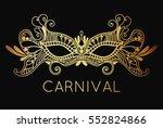 mardi gras carnival mask of... | Shutterstock .eps vector #552824866