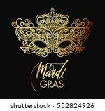 mardi gras carnival mask of... | Shutterstock .eps vector #552824926