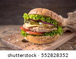 delicious fresh chicken burger...