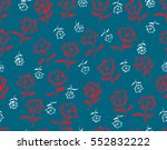 hand drawn vector floral... | Shutterstock .eps vector #552832222
