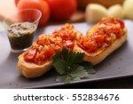 bruschetta | Shutterstock . vector #552834676