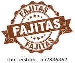 fajitas. stamp. sticker. seal.... | Shutterstock .eps vector #552836362