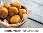 bowl of arancini   rice balls... | Shutterstock . vector #552840022