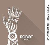 vector robotic arm symbol....   Shutterstock .eps vector #552842152